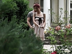 Footjob in the garden - Shona Geyser