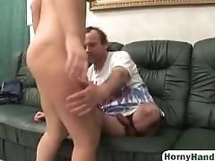 Milf redhead chick fucking handicap husband on the couchman-hi-1