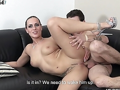 Brother of famous pornstar cum in Mea Melone sweet tight pussy