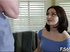 Girl sucks weenie of say no to stepfather