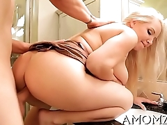 Mom satisfies her starving cum-hole