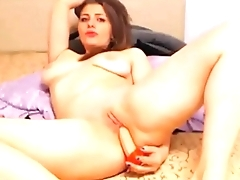 Sexy blonde girl fingering on cam - gspotcam.com