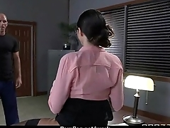 Hot big-boob office slut fuck boss'_ big-dick 2