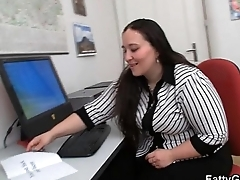 Chubby office girl getting pounded