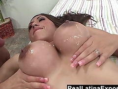 RealLatinaExposed - Alexis Breeze huge boobs sprayed with jizz