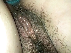 My sleeping wife hairy pussy