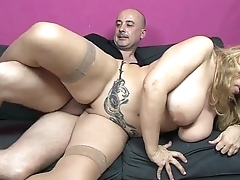 Dirty sex with slut busty housewife