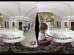 Schoolgirl Seduces Her Piano Teacher! (VR)