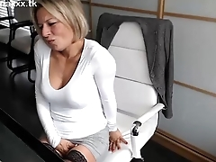 Cam Girl In The Office