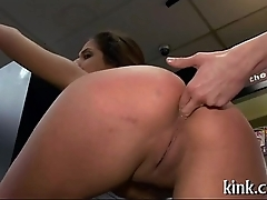 Defiant beauty punished and drilled