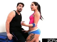 Tiny Latina Bombshell Jynx Labyrinth Fucked Up Her First Class Yoga Ass