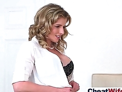 Hardcore Sex Tape With Cheating Superb Wife (cory chase) clip-11