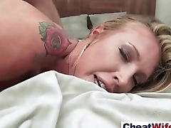 Sex Tape With Gorgeous Horny Cheating Housewife (samantha saint) clip-27