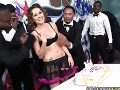 Mae Meyers gets Gangbanged on her birthday