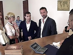 Judgement Day - Sexy Lawyer Negotiates Double Deepness