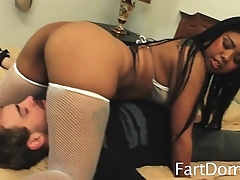 Asian Goddess Farts Her Breakfast All Over Slave
