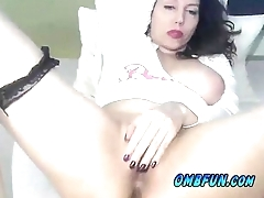 Hot Wet Milf Fucks Own Pussy 4 U PLAY OMBFUN.com VIBE NOW