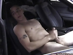Straight amateur punk wanks his thick cock