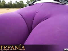 Purple cameltoe