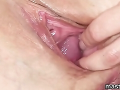 Horny czech kitten spreads her pink muff to the bizarre