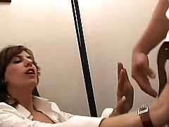 A job interview goes wrong and chum around with annoy man fucks business woman