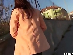 Public Pickup Girl Fucked For Top-hole Nearly Slay rub elbows with Street 11