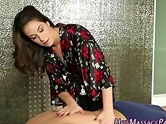 Masseuses pussy licked