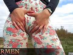 What happens inside Carmen'_s leggings?