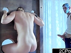 Blonde Bimbo Kate England Offers Free Anal to Any Guy Who is Man Enough