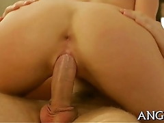 Riding on males aroused willy