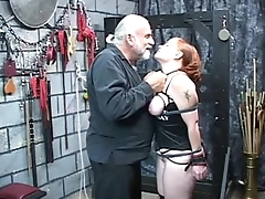 a undiscriminating red headed slut gets nice her tits squeezed