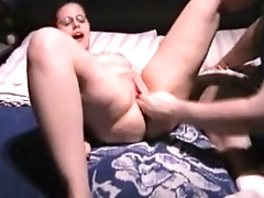 Chubby Girlfriend Fisted to Orgasm