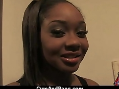 Ebony Chick Drowned In Cum 11