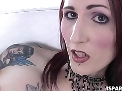 TS Brittany St. Jordan Fucks Her Ass With Toys