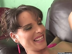 Syren DeMar takes a BBC in front of her son