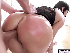 (shay fox) Girl With Big Curvy Oiled Up Butt Enjoy Hardcore Anal Sex vid-26