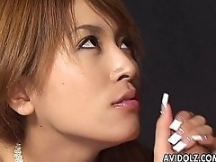 Luxurious loving Asian slut getting fucked doggy in bed