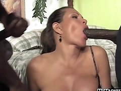 Teri Weigel takes two sinister cocks in front of her son