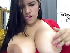 Chubby Latina With Huge Tits Toys Her Fat Pussy
