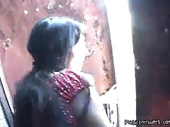 Indian cute Teen Fucks in public cumshot