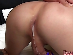 Cute shemale gets their way asshole creampied