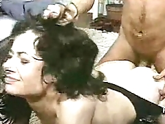 TAN STOCKING WEARING SLUT FUCKED DOGGY STYLE HAIR PULLING