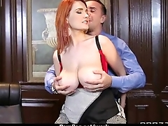 Big titted office MILF fucks at law 27