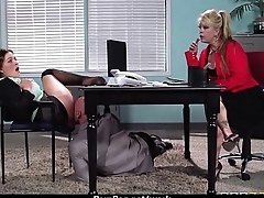 Big titted office MILF fucks at impersonate 20