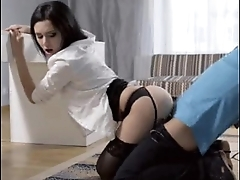 OFFICE WHORE IN STOCKINGS FUCKED DOGGY Atmosphere GIF LOOP CONTINUAL