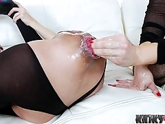 Hot girl fisting and cumshot