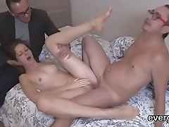 Dirt poor lover lets flirty underling a ally with to pound his exgf for dollars