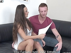 Melonechallenge Redhead muscle guy try to fuck Mea Melone hairy pussy