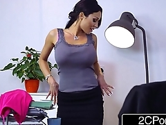 Busty Business Woman Patty Michova Has Palpitate on a Creepy Window Washer