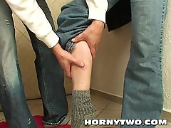Mature brunette perishable bitch stepmom gin stepson to fuck her deep